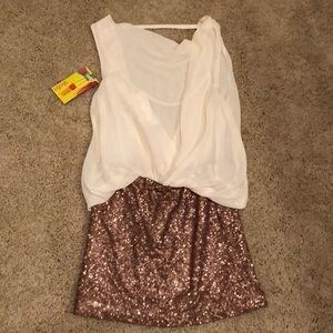 NWT! Sequin skirt and blouse dress